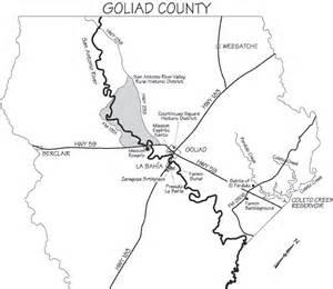 goliad map goliad state park historic site goliad area historic