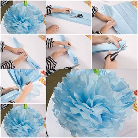 Tissue Paper Flowers Step By Step - paper flower how to