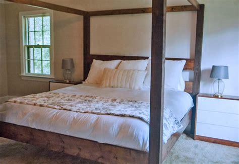 minimalist rustic modern king canopy bed ana white
