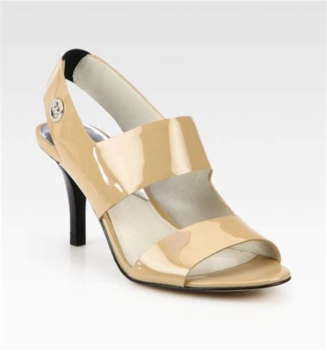 michael kors patent leather sandals michael michael kors rochelle patent leather sandals in
