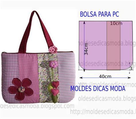 moldes bolsas tecido gratis molde de bolsa para pc com molde e passo a passo