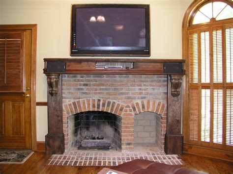 mantel brick fireplace reclaimed brick interior interior accent ideas using brick fireplace