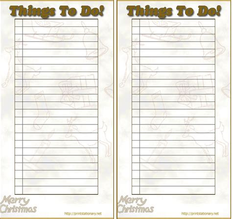 free printable holiday to do list 6 best images of printable to do list online free