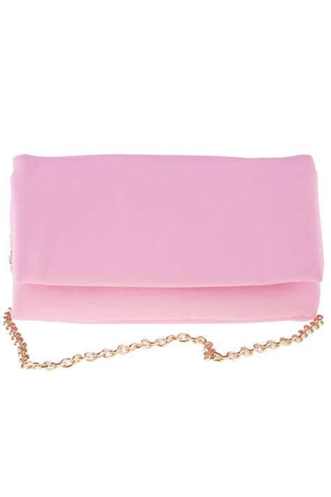 Roll Bag Pink baby pink roll up purse mini clutch bag accessories from