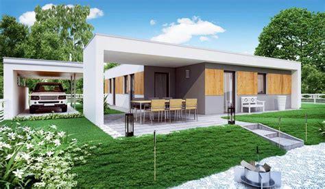 bungalow flachdach bungalow terra 85 haas fertighaus