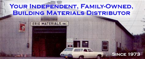 erie materials building product solutions