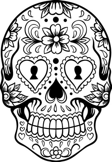coloring pages halloween skulls dibujos para colorear el d 237 a de los muertos 7 imagenes