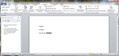 Brief Word Samenvoegen Adressen Excel Onderwerp Microsoft Word Voorbeeld 1