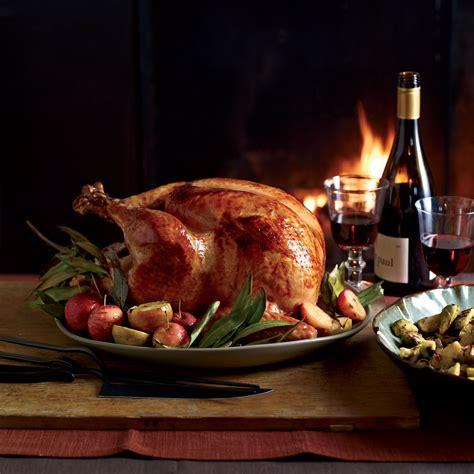 cider glazed turkey with lager gravy recipe michael symon food wine