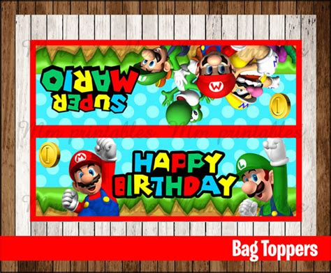printable mario party decorations 80 off sale mario bros party toppers instant by
