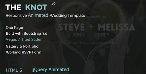 Wedding Animation Template by The Knot Wedding Animated Html Template By Accurathemes