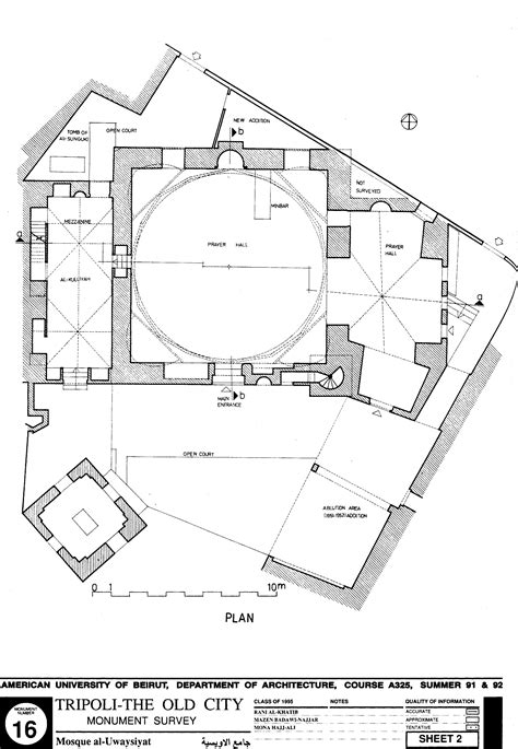 Floor Plan Of Mosque by Jami Al Uwaysi Drawing Of Uwaysi Mosque Plan Archnet