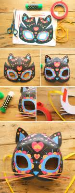 Day Of The Dead Mask Template by Cat Mask Template For Dia De Los Muertos Day Of The Dead