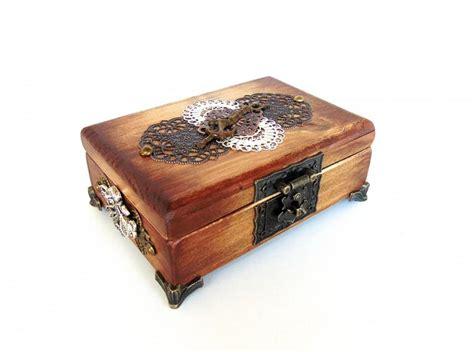 Wedding Treasure Box by Nautical Jewelry Box Pirate Treasure Chest Anchor