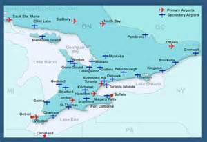 map of ontario airports