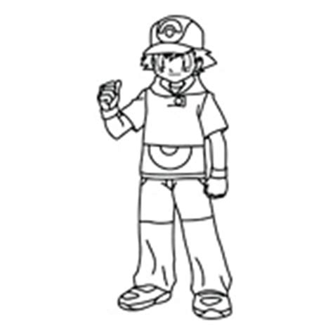 pokemon trainer coloring pages pokemon trainer red colouring pages