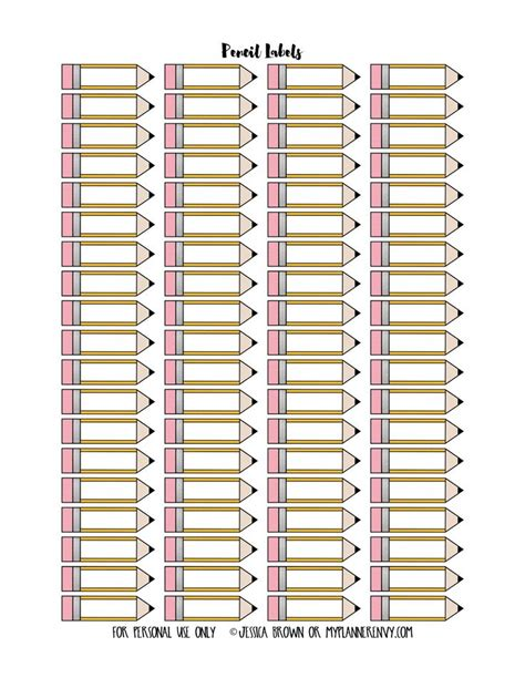 printable pencil labels 233 best images about autoadhesivos profesiones on