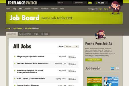 website layout jobs 20 websites to find web design jobs