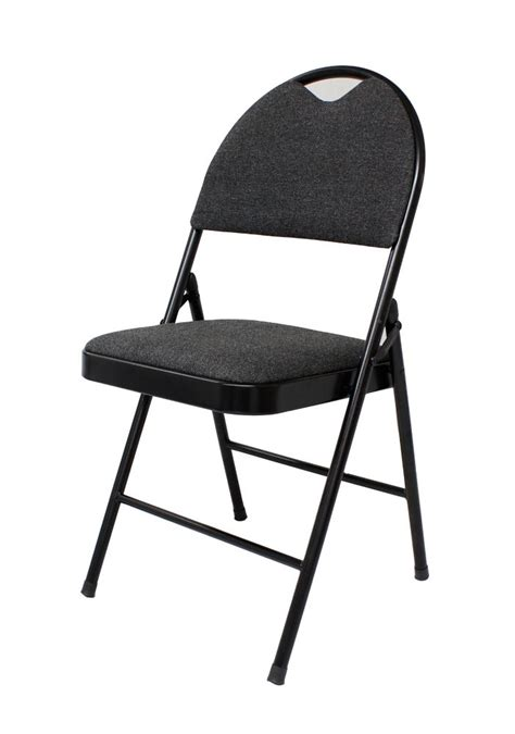 Chaise Rembourrée by Upc 044413118334 Gsc Deluxe Black Fabric Folding Chair