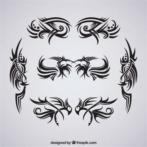 tattoo tribal editor free download pack of tribal tattoos vector free download