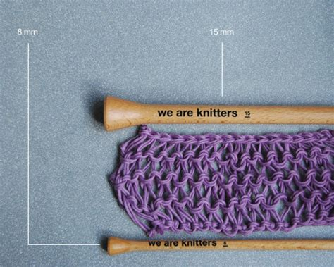 Knitting With Two Different Sized Needles The