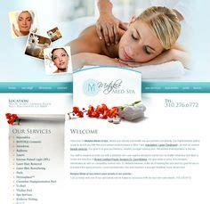 tanning salon spa web design layout hotel spa web