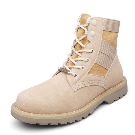 Army Shoes 14cm leather boots outdoor desert casual
