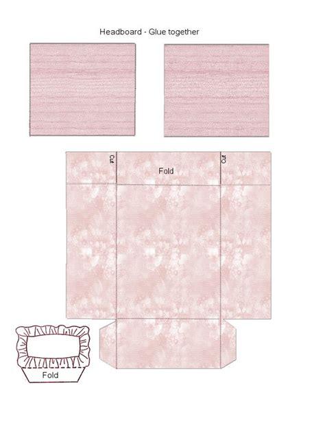 dollhouse headboard pink bed headboard pillow dollhouse printies
