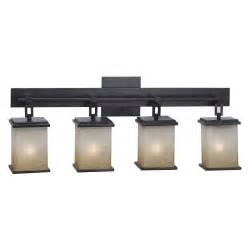 Bronze Bathroom Vanity Lights Kenroy Home Plateau 4 Light Vanity 03375 24w In Rubbed Bronze Bathroom Vanity Lights At