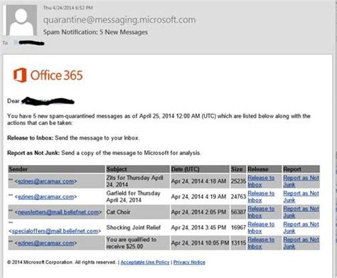 Office 365 Email Goes To Junk Exchange Protection Its