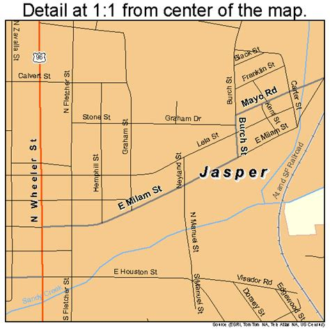 map of jasper texas jasper texas map 4837420