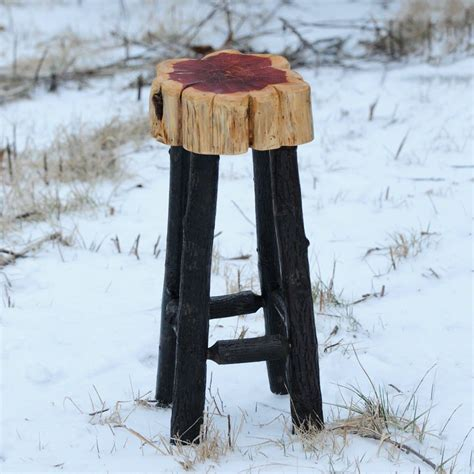 Outdoor Cedar Bar Stools by Cedar Bar Stool Rustic Furniture Stool Bar Stools