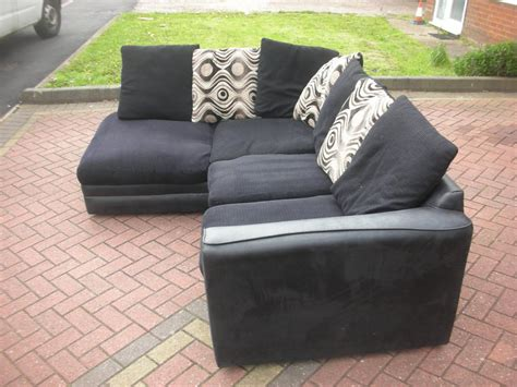 black corner sofas for sale black suede corner sofa for sale dudley sandwell