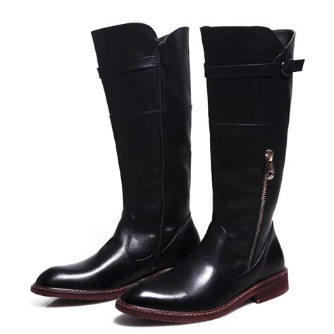 long motorcycle boots popular mens long leather riding boots buy cheap mens long