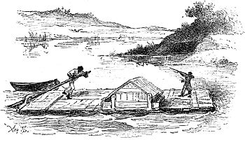 rafts and other rivercraft in huckleberry finn and his circle books the adventures of huckleberry finn chapter 12 summary