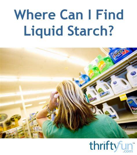 find liquid starch thriftyfun