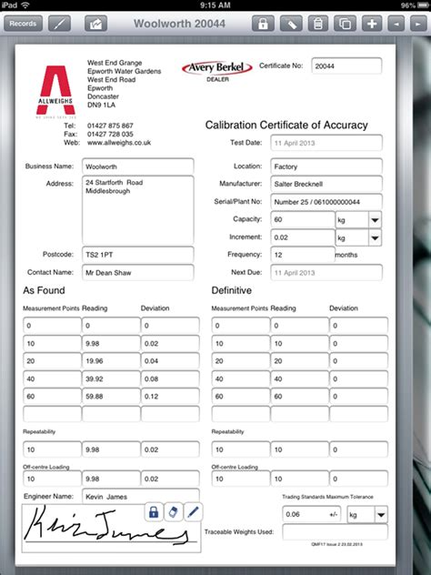 calibration certificate template calibration forms sles pictures to pin on