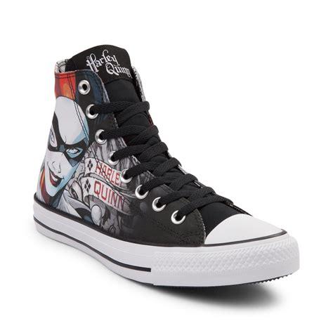 converse sneakers converse chuck all hi dc comics harley quinn