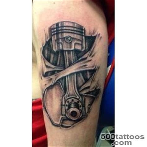 mechanic tattoos piston piston designs ideas meanings images