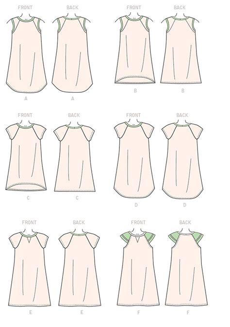 pattern review template mccall s 7344 children s girls raglan sleeve knit dresses
