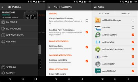 pebble apps for android pebble for android can now show notifications from all apps