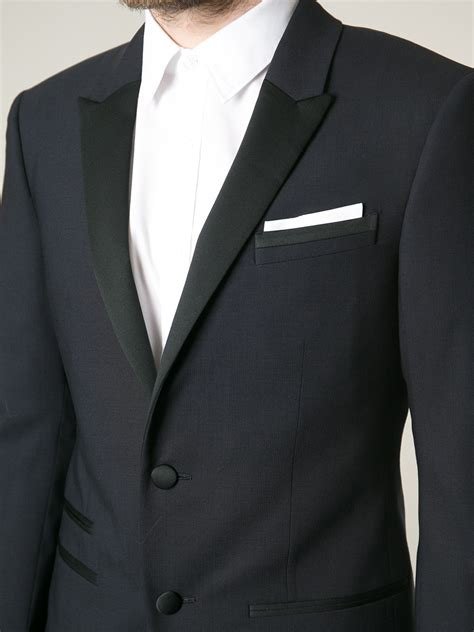 Blazer Pria Hugo Black lyst neil barrett classic formal blazer in black for