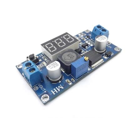 Lm2596 Adjustable Step Power Module Led Voltmeter 1 lm2596 lm2596s led voltmeter adj dc dc step step adjustable power supply module with