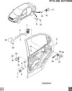 Chevrolet Aveo Parts Chevrolet Aveo Door Lock Hardware Rear