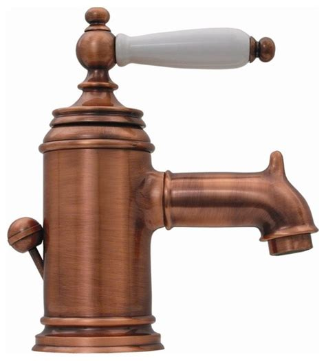 Copper Bathroom Fixtures Fountainhaus Lavatory Faucet Copper Traditional Bathroom Sink Faucets By Shopladder