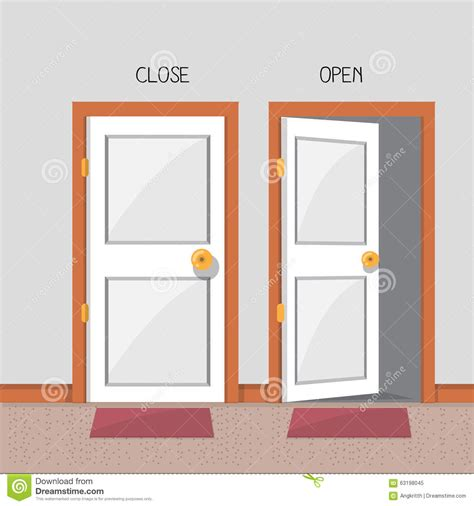 and open door stock illustration image 63198045
