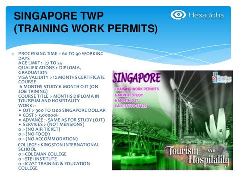 Work Permit After Mba In Singapore by Singapore Twp
