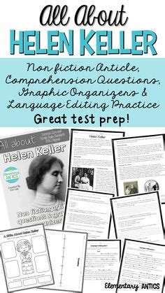 biography of helen keller in gujarati language constructed response texts and literacy on pinterest