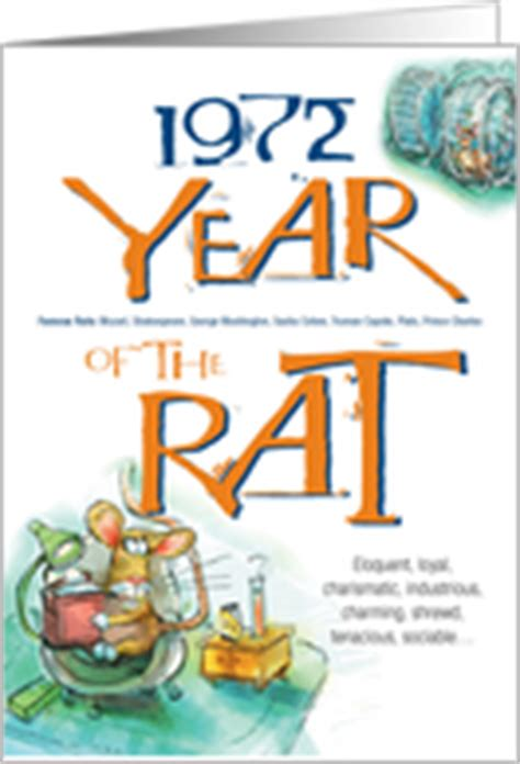 year of the rat birthday cards from greeting card universe