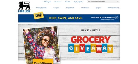 Free Grocery Giveaway - foodlion com grocerygiveaway food lion mvp free grocery